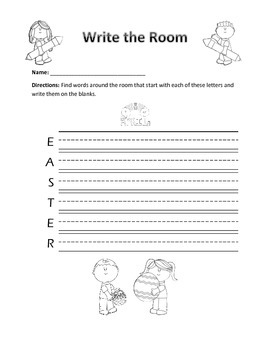 Word Work Activity- Write The Room (April)