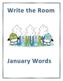 Word Work Activity- Write the Room (January)