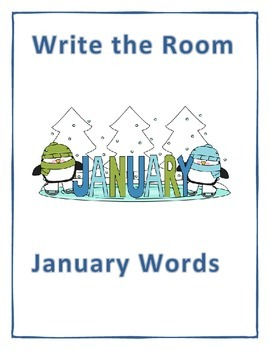 Word Work Activity- Write the Room (January)