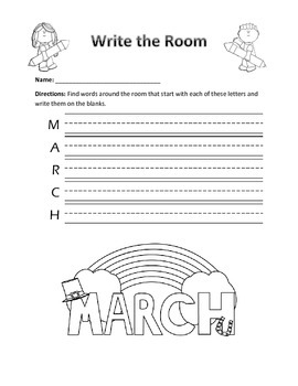 Word Work Activity- Write the Room (March)