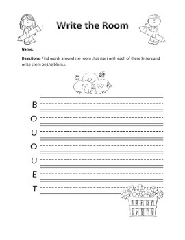Word Work Activity- Write the Room (May)