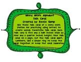 Word Work Alphabet Task Cards