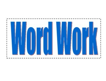 Word Work Anchor Chart