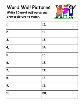 Word Work Answer Documents