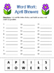 Word Work - April Showers