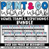 Word Work BUNDLE: Vowel Teams & Diphthongs