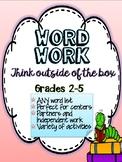 Word Work for Big Kids! Spelling Activities