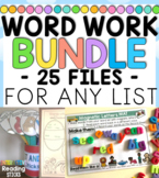 Word Work BUNDLE for any Word List