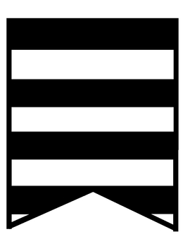 Word Work Banner - Black and White Striped