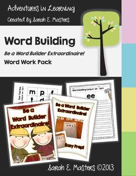 Word Work - Be a Word Builder Extraordinaire! - Literacy Center Activity