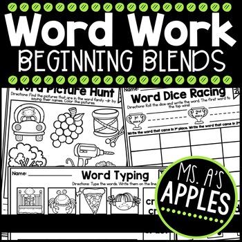 Word Work Beginning Blends