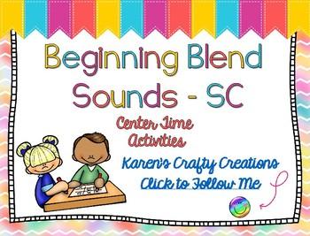 Word Work - Beginning Blends - SC