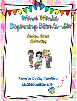 Word Work: Beginning Blends - SW