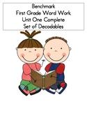Word Work- Benchmark Advance Unit 1 Decodables COMPLETE SE