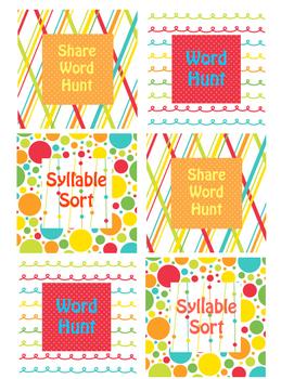 Word Work Board Cards 2
