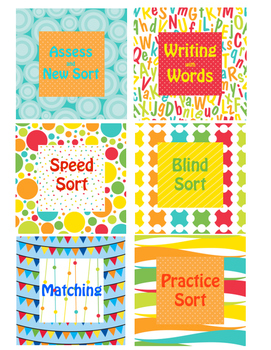 Word Work Board Cards