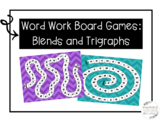 Word Work Board Games: Blends and Trigraphs