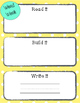 Word Work Board- Read it, Build it, Write it!