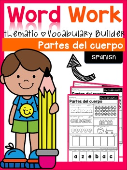 Word Work- Body Parts Vocabulary