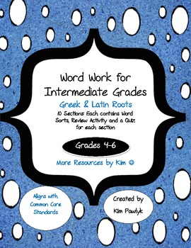 Word Work Book For Intermediate Grades 4 6 Greek Latin Roots