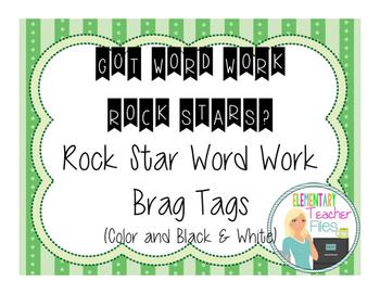 Word Work Brag Tags