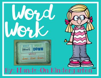 Word Work - Build It! Stamp it! Write It!