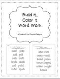 Vowel Teams Word Work: Build it, Color it Printables