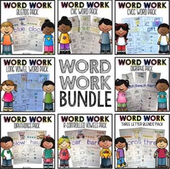 Word Work Activities | Phonics Worksheets