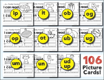 Word Work Bundle - 27 Word Families - 115 Picture - Word Cards - CVC