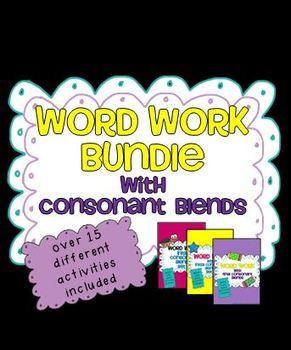 Word Work Bundle - Blends and Short Vowels