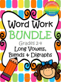 Word Work Bundle - Long Vowels, Blends and Digraphs