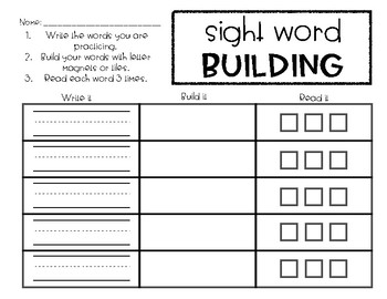 Word Work Bundle No Prep