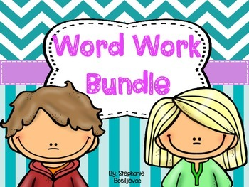 Word Work Bundle (Spelling Long Vowels, Other Vowels, and Inflected Endings)