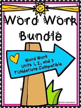 Word Work Bundle - Units 1, 2, and 3