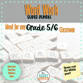 Word Work Bundle for Upper Grades