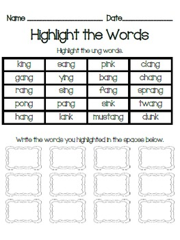 Word Work Bundle: qu, digraphs, nk, ng