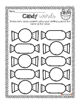 Word Work Bundle with Spelling Test Templates