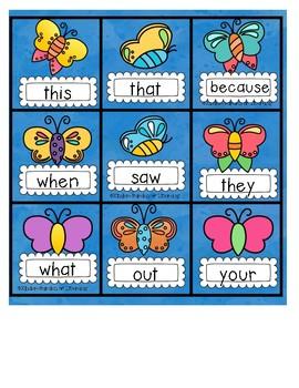 Word Work-Butterfly Gotcha!