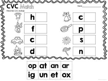 Word Work: CVC Activities