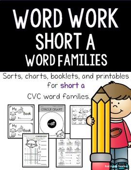 "Word Work---CVC ""Short a"" Word Families"