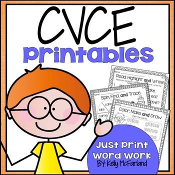 Word Work {CVCe Printables}