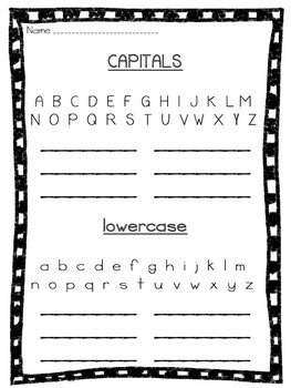 Word Work Capital and Lowercase Spelling Practice