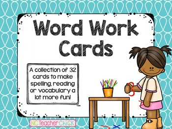 Word Work Cards