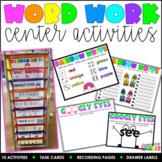 Word Work Center Activities