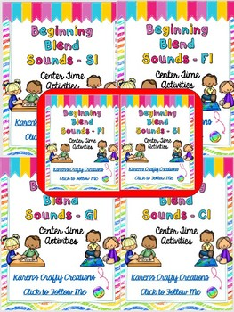 Word Work: Center Activities - BUNDLE - Blends (bl, cl, fl, pl, gl, sl)