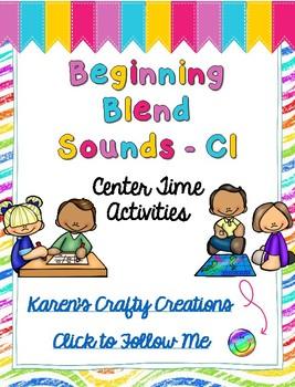 Word Work: Center Activities - Beginning Blend CL