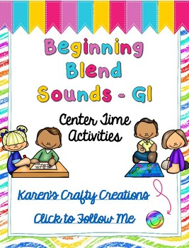 Word Work: Center Activities - Beginning Blend GL