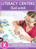 Word Work Center Activities for Kindergarten