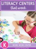 Word Work Activities for Kindergarten (for Centers or D5)