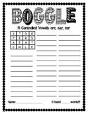 Word Work Center:  Boggle/Making Words Set 2